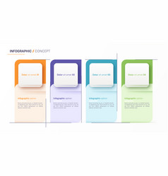 Infographic design template four options vector