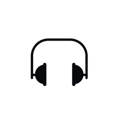 isolated headset icon electronics element vector image vector image