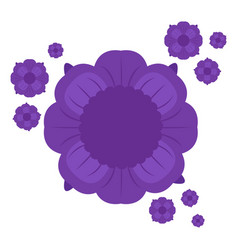 isolated purple flowers vector image