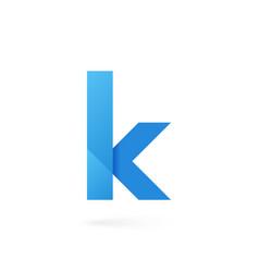 letter k logo on white alphabet background vector image