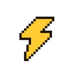 lightning pixel vector image