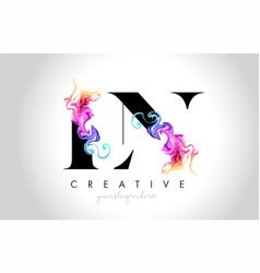 Ln vibrant creative leter logo design with vector