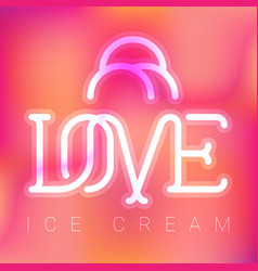 Love ice cream logo design vector