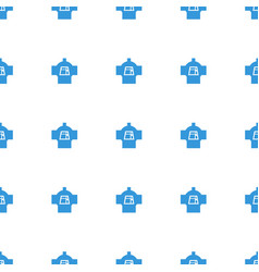 Luggage compartment in airplane icon pattern vector
