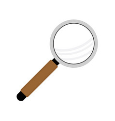 magnifying glass magnifier with handle vector image