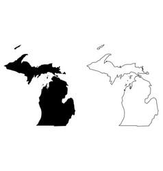 Michigan mi state map usa vector