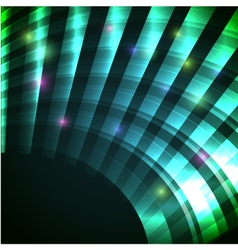 Modern background with neon green arc eps10 vector image
