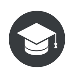 Monochrome round graduation icon vector