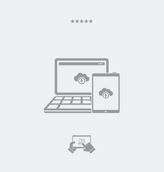 multi devices cloud icon vector image