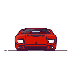 Muscle car front view vector