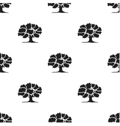 Oak icon in black style for web vector
