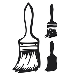 paint brush vector image