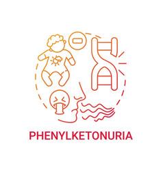 Phenylketonuria red gradient concept icon vector