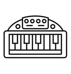 Piano toy icon outline style vector