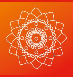Poster raksha bandhan flowers decoration vector