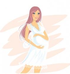 pregnant women vector image