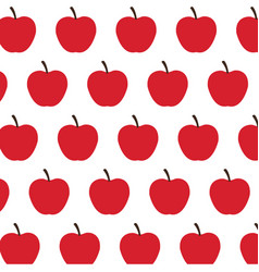 red apple fruit harvest fresh seamless pattern vector image