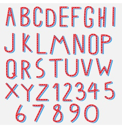 Red blue alphabet vector