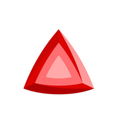 red diamond icon flat style vector image