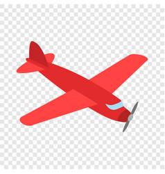 red plane isometric icon vector image