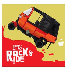 Ride with bajaj vector