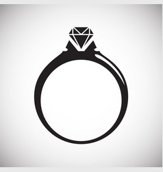 ring icon on white background for graphic and web vector image