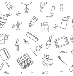 seamless pattern with designer supplies vector image