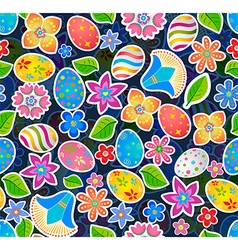 Seamless pattern with easter 2 vector image