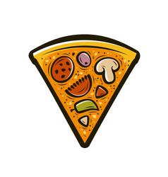 Slice pizza food symbol vector