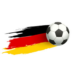 Soccer ball and flag of germany goal concept vector