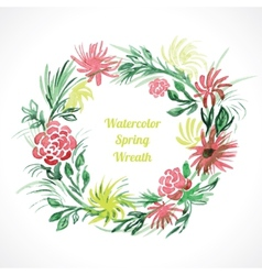 Spring floral wreath vector