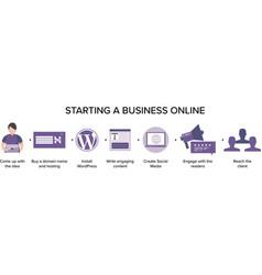 Starting a business online vector