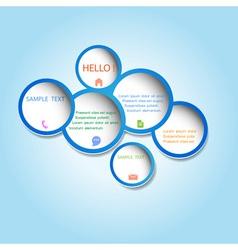Trendy web design bubbles vector image vector image