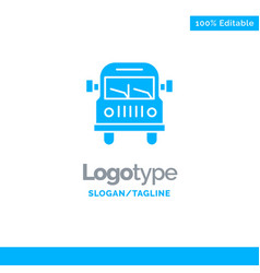 truck van vehicle education blue business logo vector image
