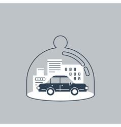 Trunsport coverage policy icon vector