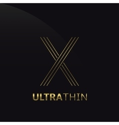 Ultrathin X Letter vector