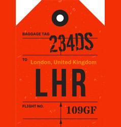 vintage luggage tag vector image