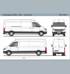 Volkswagen crafter cargo van l3h2 2017-2018 vector