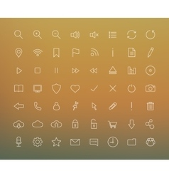 Digital thin line icons set vector image vector image