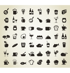 Meal icons vector image vector image