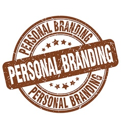 Personal branding brown grunge round vintage vector