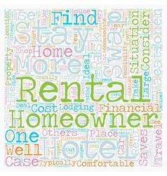Rental Swaps 1 text background wordcloud concept vector image