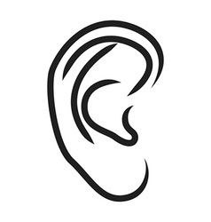 The human ear vector image vector image