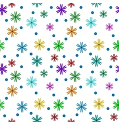 Flower color on white seamless pattern vector image vector image
