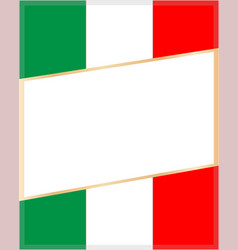 frame on the background of the italian flag vector image vector image