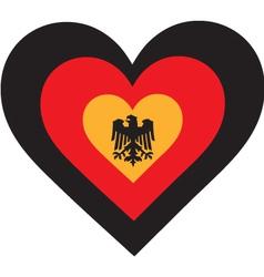 Germany heart vector