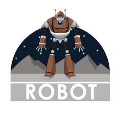 robot technology automated intelligence futuristic vector image