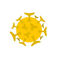 round viral bacteria icon flat style vector image