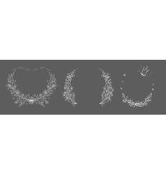 Set of hand drawn floral frame vector image vector image