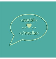 social media tags vector image vector image